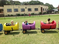 this is a image of multi coloured Barrel Train