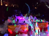 this is a image of night foam party