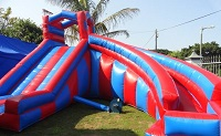 image of Jumping Castle Water Slide red and blue