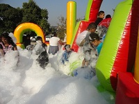 image of kids enjoying the Foam Slide Combo