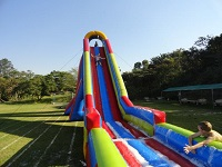 image of Giant Foam Slide Combo green, red and blue